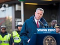 New York's Mayor Bill de Blasio.