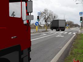 Unfall - Kollision zwischen Lkw und Moped