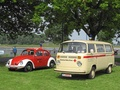 Two Oldtimer on grass.